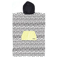 Ladies Hooded Poncho Towel In Black White From Ocean & Earth