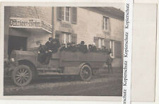 Foto Ak Offiziersheim Mannschaftswagen Oldtimer LKW Kennung 1915/20 (F2521