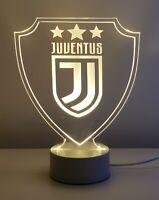 Lampada 3D Juventus led luce notturna multicolor rgb inciso idea regalo calcio