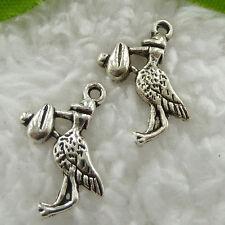 Free Ship 120 pcs tibet silver crane charms 19x15mm #831