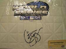 CURT SCHILLING- Steiner COA- AUTO 2004 World Series Base Boston Redsox autograph