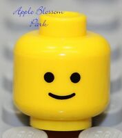 NEW Lego Classic Yellow MINIFIG HEAD City Minifigure Standard w/Black Eyes Smile