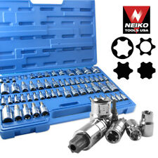 60pc Master Star Socket Set Tool Bit Kit Tamper Proof Professional Tools
