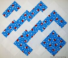 """24 5"""" POLAR BEARS Fabric Quilt Squares Quilting Snow Novelty Print Winter Cotton"""