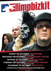 LIMP BIZKIT 2013 Australian Tour Poster A2 Chocolate Starfish Significant ***NEW