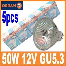 5 X OSRAM Halogen 50W 12V MR16 GU5.3 44870 WFL Germany