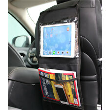 Auto Car Seat Back Hanging Organizer Storage Multi-Pocket Ipad Pack Bag Black