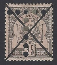 Tunisia 1888 25c Scott #5 with T = postage due perfin used