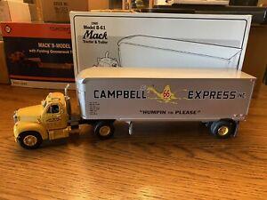 First Gear 1960 Mack B-Model Tractor Trailer, Campbell 66 Express,Stock #18-1169