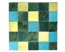 SURYA Leather Rug Hair on Hide Carpet Mat Hand Craft Emerald Lime Aqua 18x18