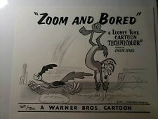 Chuck Jones Coyote Roadrunner Zoom And Bored 169/750 Lithograph Warner Bros