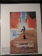 "Vintage ""The Karate Kid"" Movie Poster with 3 Signatures and COA"