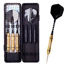3PCS Darts Set  Aluminum gold Steel Tip Darts Set With Dart Flights Case 21g