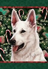 Large Indoor/Outdoor Holiday Flag - White German Shepherd 14195