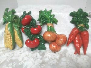 Vintage  Ceramic Vegetables Kitchen Wall Décor