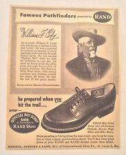 "Original William F. ""Buffalo Bill"" Cody Famous Pathfinder Rand Shoes Magazine Ad"