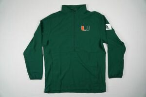 Miami Hurricanes adidas Pullover Men's Green Poly NEW Multiple Sizes