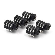 "5PCS 6.35mm(1/4"") 6Pin Female Stereo Jack Socket Panel PCB Welding"