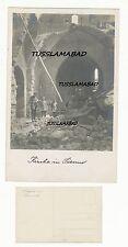 Kirche Ruine Soldaten Ort beschriftet Postkarte 1 WK