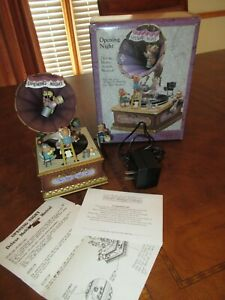"""Enesco Music Box """"OPENING NIGHT"""" w/ Box Victrola Mice Musical Action Mouse (F729"""