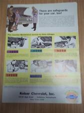 Vtg 1963 Chevrolet Service Mailer/Brochure~Keiser Pottstown PA~Joints & Joining