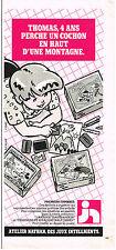PUBLICITE ADVERTISING 064  1982  NATHAN  jeux jouets   premiers timbres
