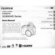 Fujifilm Finepix S2800HD Original Operating Manual Instructions User Guide Book