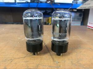 2 Vintage General Electric USA 6L6GC 6L6 Clear top Vacuum tubes Guaranteed!