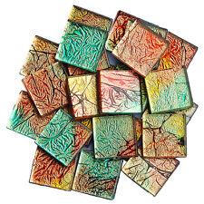 100g 20mm Square Crystal Mosaic Tiles Scrapbooking Vitreous Art & Craft Supplies