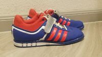Adidas Powerlift 2 Trainer-Men's Power Lifting Shoes Blue/Red Size 7.5