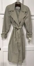 New With Tags ~ London Fog Womens Trench Coat Size 10 R Double-Breasted $199