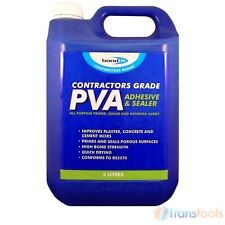 Contractors Grade PVA Glue, Adhesive and Sealer 4 x  5 litre bottle Tubs.