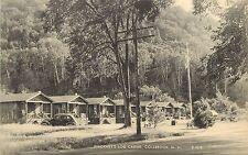 Vintage Postcard Pinckney's Log Cabins Colebrook NH Coos County E701K
