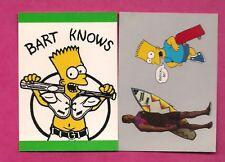 2 X RARE FOOTBALL BO JACKSON (BO KNOWS BART SIMPSON) MINT CARD (INV# A7509)
