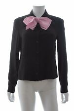 Prada Bow-Embellished Silk Crepe de Chine Shirt Spring '17 Collection / RRP £780