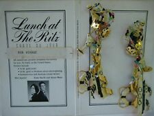 "LUNCH AT THE RITZ ""Bon Voyage"" earrings - cruise ship Champagne bottle flute"