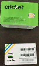 CRICKET WIRELESS NANO 4FF SIM Card • GSM 4GLTE •  NEW •  AT&T Network MVNO