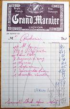 Grand Marnier Liquor 1940 Letterhead/Billhead - Liqueur