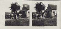Grande Guerre Messe IN Aperto WW1 Foto Stereo Vintage Analogica