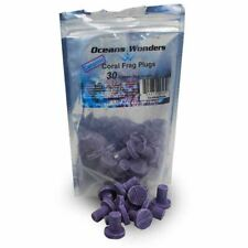 Oceans Wonders Ceramic Coralline Purple Coral Frag Plugs 30 Pack