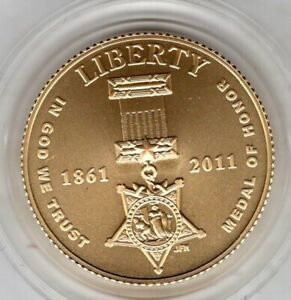 2011 Medal of Honor Commemorative Uncirculated Five-Dollar Gold Coin
