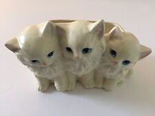 NAPCO Napcoware 3 White Persian Kitten Cat PLANTER #7200