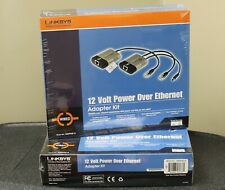 Linksys Wappoe12 12 Volt Power Over Ethernet Adapter Kit Sealed Box Lot of 3!