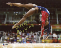 SIMONE BILES SIGNED AUTOGRAPHED 8x10 PHOTO OLYMPIC GYMNASTICS LEGEND BECKETT BAS