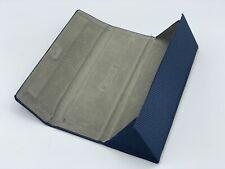 Authentic Blue Flexon Folding Magnetic Triangle Hard Side Eyeglasses Case