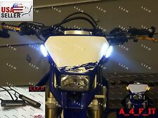Motorcycle LED Fork Turn Signal Indicator Light Sportbike Cruiser Blinkers White