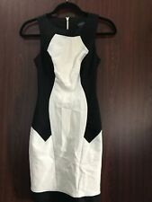 Topshop. Black and white sleeveless bodycon dress. Size US 2.