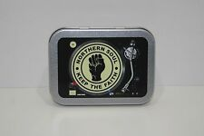 Northern Soul 'Keep the Faith' DJ Deck Cigarette Tobacco Storage 2oz Hinged Tin