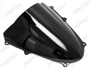ABS Smoke Black Double Bubble Windscreen Windshield 2009-2016 Suzuki GSXR1000