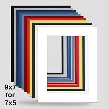 9x7 INCH PHOTO MOUNTS FOR 7x5 PACK OF 5 CHOICE COLOURS Photo FRAME FREE P&P